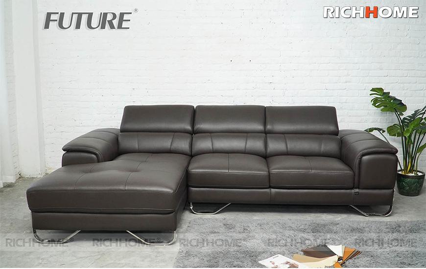Sofa da bò chữ L - Future Model 7037 (3L)